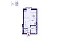 Никитина 128: Планировка 1-комн 25,66 м²