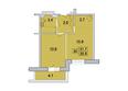 Первый Ленинский квартал, д. 3: 2-комнатная 35,8 кв.м