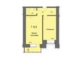 Жилой комплекс SKY SEVEN, б/с 8, 2 оч: Планировка двухкомнатной квартиры 62,9 кв.м
