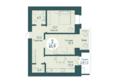 SCANDIS OZERO (Скандис Озеро), д. 1: 2-комнатная 61,9 кв.м
