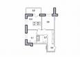 Первый Ленинский квартал, д. 1: 2-комнатная 42,8 кв.м