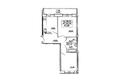 САДОВЫЙ, дом 10: Планировка двухкомнатной квартиры 57,38 кв.м