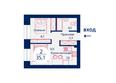 Жилой комплекс SCANDIS (Скандис), дом 11: Планировка двухкомнатной квартиры 35,1 кв.м