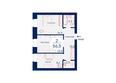Микрорайон SCANDIS (Скандис), дом 2: Планировка двухкомнатной квартиры 56,5 кв.м