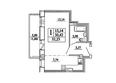САДОВЫЙ, дом 10: Планировка однокомнатной квартиры 32,23 кв.м