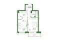 Life (Лайф), дом 2, б/с 3: 2-комнатная 47,67 кв.м