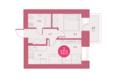 Жилой комплекс Арбан SMART (Смарт) на Шахтеров, д 2: Планировка двухкомнатной квартиры 34 кв.м