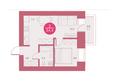 Жилой комплекс Арбан SMART (Смарт) на Шахтеров, д 2: Планировка двухкомнатной квартиры 34,4 кв.м