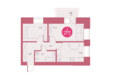 Жилой комплекс Арбан SMART (Смарт) на Шахтеров, д 2: Планировка двухкомнатной квартиры 47,5 кв.м