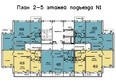 Жилой комплекс Иннокентьевский, 3 мкр, дом 3: 1 подъезд, 2-5 этажи