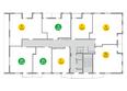 Жилой комплекс ЯСНЫЙ БЕРЕГ, дом 10, б/с 1-3 : Блок-секция 1. Планировка типового этажа