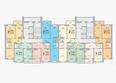 ГРАНД-ПАРК, б/с 2-2: Блок-секция 2-2. Планировка 10-17 этажей