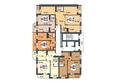 Жилой комплекс ПОКРОВСКИЙ, б/с 3, 4, 5: Блок-секция 5. Планировка типового этажа