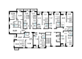 ЗОРКИЙ: Подъезд 1. Планировка 3-9 этажей