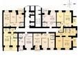 ДРУЖНЫЙ-3, дом 4: Блок-секция 1. Планировка 9-15 этажей