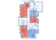 ВЕРХНИЙ БУЛЬВАР, дом 3, б/с «А», «Б»: Блок-секция А. Планировка типового этажа