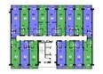НОВЫЕ ЧЕРЕМУШКИ: Планировка типового этажа, секция 2
