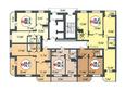 Жилой комплекс ПОКРОВСКИЙ, б/с 1, 2: Блок-секция 1. Планировка типового этажа