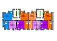 Жилой комплекс СЕРЕБРЯНЫЙ БЕРЕГ, дом 11: Подъезд 10-9. Планировка типового этажа