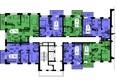 Жилой комплекс СЕРЕБРЯНЫЙ, квр 1, дом 3: Секция 1. Планировка типового этажа.