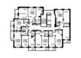 Жилой комплекс ОЛИМПИЙСКИЙ: Планировка типового этажа, 1 б/с