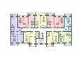 Жилой комплекс СВОБОДА, дом 8: Подъезд 2. Планировка 2,4 этажей