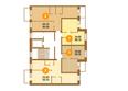 МОСКОВКА-2, квартал Б, дом 8: Планировка 3 этажа