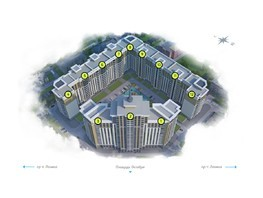 4-комнатная квартира, 113.4  м², 3/22 этаж