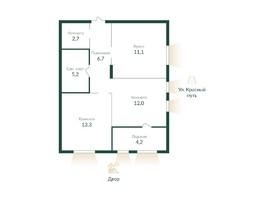 Продается 2-комнатная квартира ЭКО ПАРК, 2 этап, 56  м², 6190000 рублей