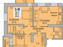 3-комн, Ладо Кецховели ул, д.20