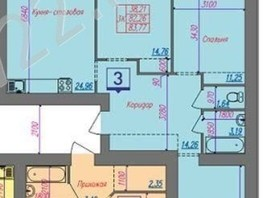 Продается 3-комнатная квартира Малахова ул, 82.5  м², 5400000 рублей