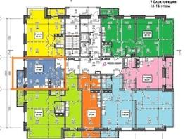 1-комнатная квартира, 38  м², 16/17 этаж