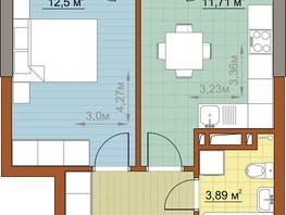 1-комнатная квартира, 32.99  м², 6/22 этаж