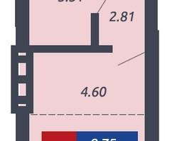 Студия, 27.59  м², 17-23/25 этаж
