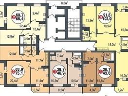 Продается 1-комнатная квартира ПОКРОВСКИЙ, б/с 1, 2, 46.9  м², 2970000 рублей