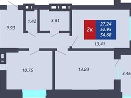 Продается 2-комнатная квартира ЧКАЛОВ, дом 1, 52.95  м², 4765500 рублей