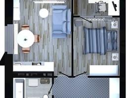 Продается 2-комнатная квартира ApartRiver, апарт-отель, 42.25  м², 4450024 рублей
