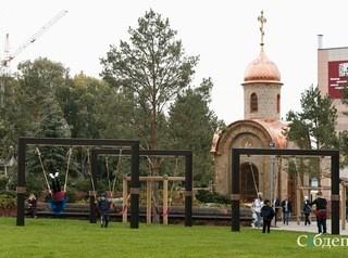 Парк на месте сгоревшего ТЦ «Зимняя вишня» открылся в Кемерове