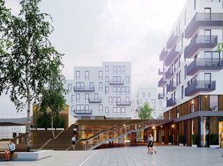 Японского архитектора жилого квартала на Цесовской набережной вдохновила русская берёзка