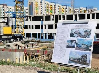 Строящаяся в Покровском школа готова на 60%