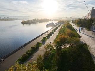 Правобережную набережную Красноярска благоустроят в 2019 году