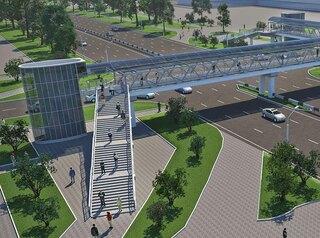 Строительство надземного пешеходного перехода у«Арены.Север» начнется виюне