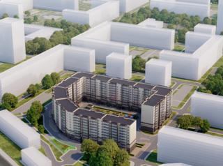 На Шахтеров началось строительство жилого дома с ландшафтным парком во дворе