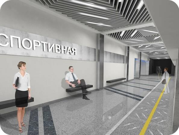 Эскизы станции метро «Спортивная» в Новосибирске