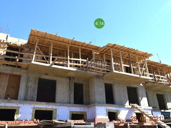 Ход строительства 28 апреля 2021