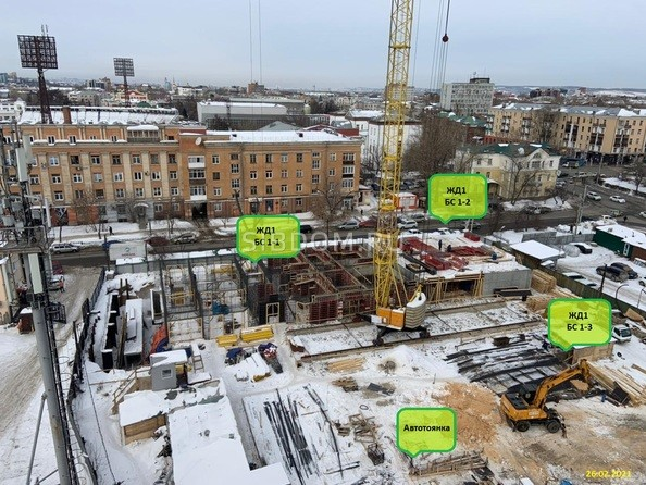 Ход строительства 26 февраля 2021