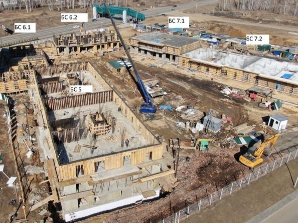Ход строительства 5 апреля 2021