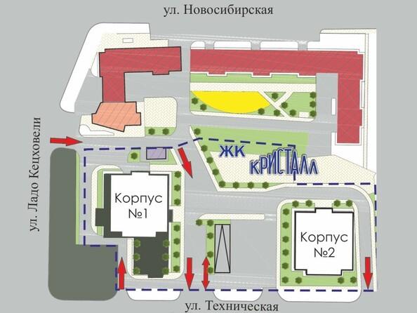 Схема расположения домов ЖК Кристалл