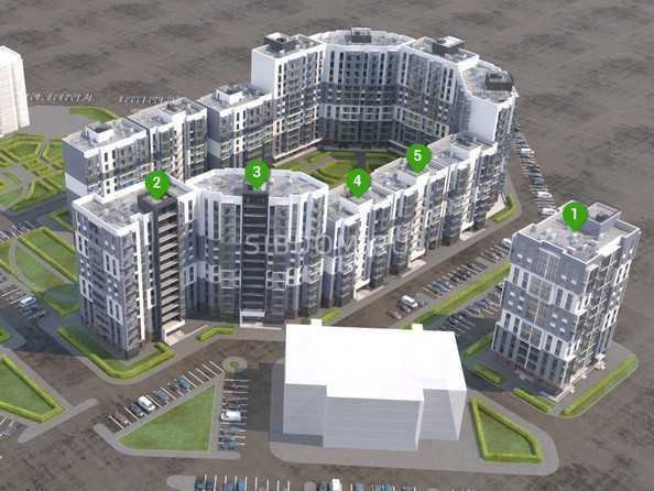 Расположение блок-секция ЖК «Первый Ленинский квартал»