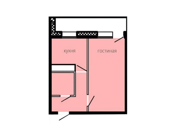 Планировки БОГАТЫРСКИЙ ж/к, 4 б/с - Планировка однокомнатной квартиры 34,47 кв.м